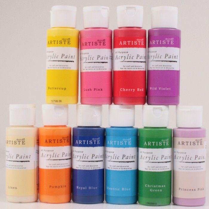 Akrylove barvy nateckovani