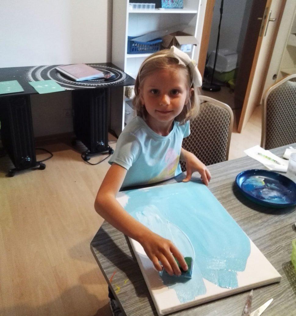 kurz dot painting deti