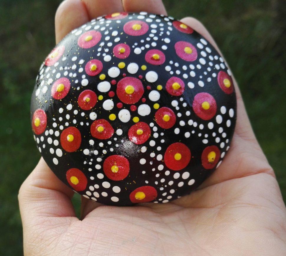 Mandala kamínek